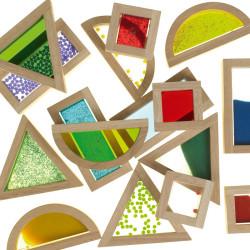 Bloques Sensoriales de madera transparentes