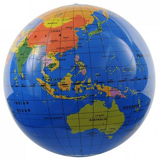Globo terráqueo hinchable 30 cm - El mundo