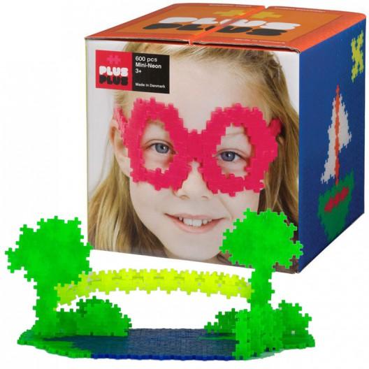 Plus-Plus Mini Basic 600 piezas colores neón - juguete de construcción