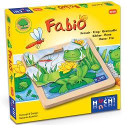 Fabio - Puzzle de descubrimiento de madera natural 8 piezas