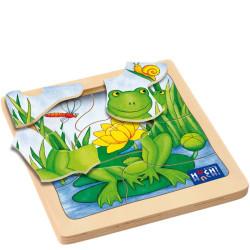 Fabio - Puzzle de descubrimiento de madera natural 8 piezas - últimas unidades