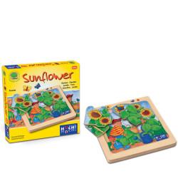 Girasol - Puzzle de descubrimiento de madera natural 8 piezas