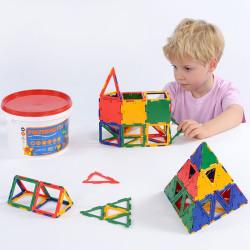 Polydron cubo midi 80 piezas - juguete de formas geométricas