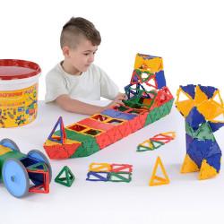 Polydron cubo gigante 223 piezas para el aula - juguete de formas geométricas