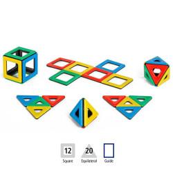 Magnetic Polydron 32 piezas imantadas - juguete de formas geométricas