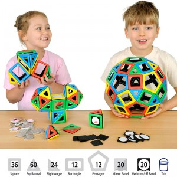 Magnetic Polydron 184 piezas para el aula - juguete de formas geométricas