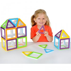 MegaMag Polydron 36 piezas imantandas gigantes - juguete de formas geométricas