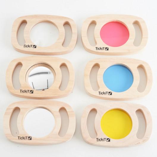 Set de paneles sensoriales de madera