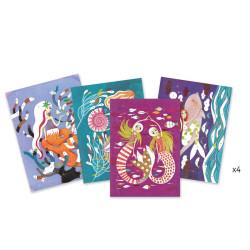 Cuadros de purpurina - La luz de las Sirenas