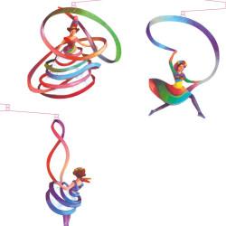 Móvil colgante - Bailarinas