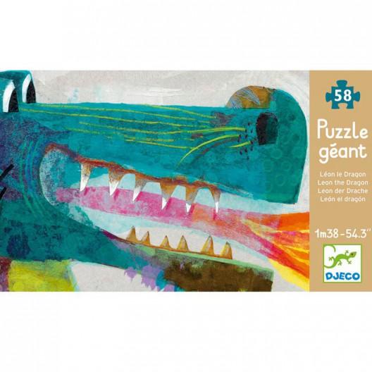 Puzzle gigante el Dragón León - 58 pzas.