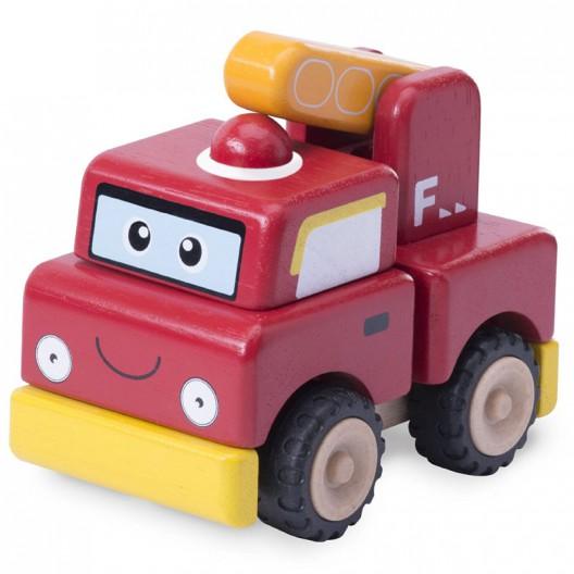 Construye un camión de Bomberos de madera