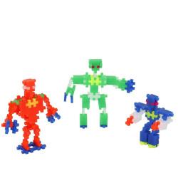 Plus-Plus Mini Neon Robots 170 piezas - juguete de construcción