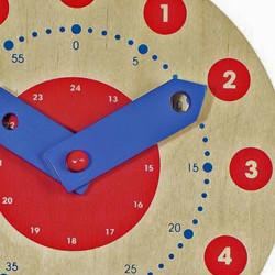 Reloj de madera pequeño - Aprende a leer la hora