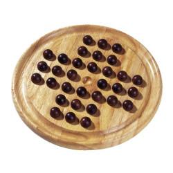Solitario clásico de madera - Juego de estrategia para un jugador
