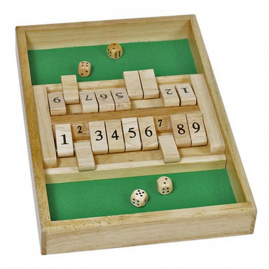 Cierra la caja doble, shut the box - juego de azar con dados para dos o mas jugadores