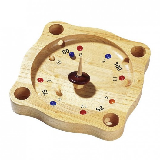 Ruleta Tirolesa - juego de azar y cálculo mental en madera