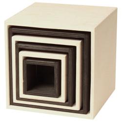 Cajas grandes apilables de madera - Blanco y Negro - últimas unidades