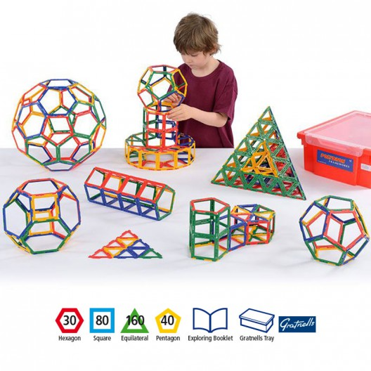 Polydron 310 piezas marco para el aula - juguete de formas geométricas
