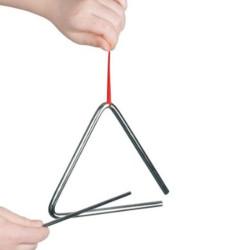 Triángulo musical de metal