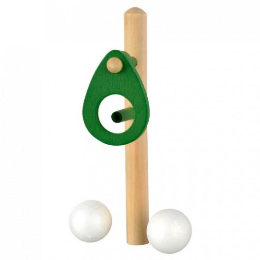 Sopla la pelota - pelota en el aire