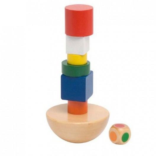 Torre de equilibrio en bolsa de algodón - juego de destreza para 2 o más jugadores