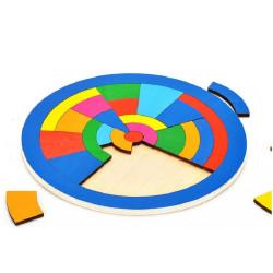 Puzzle de encaje Círculo de madera