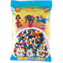 3000 perlas Hama midi 10 colores en bolsa