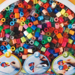 3000 perlas Hama midi 50 colores en bolsa