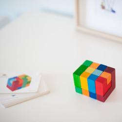 """Puzzle creativo cuadrado de madera mediano """"Legespiel Viereck"""" con plantillas"""