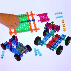 Playstix Translúcido - original juego de construción 105 piezas