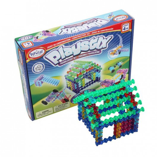 Playstix Translúcido - original juego de construcción 105 piezas