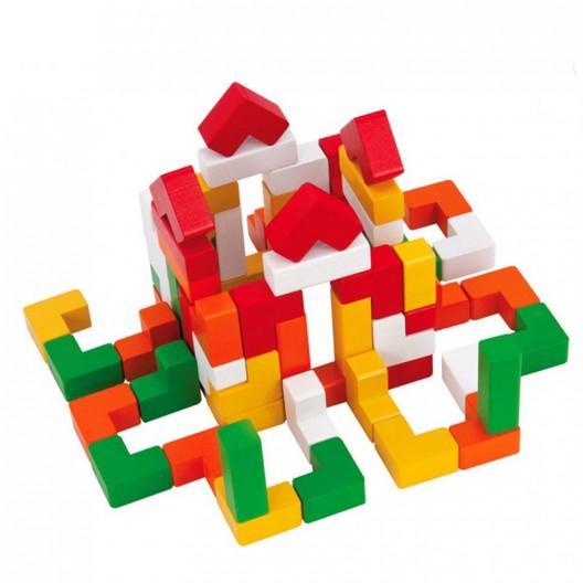 66 piezas de madera arquitectura - juego de encaje