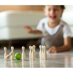 Green mini bowling - juego de bolos de madera