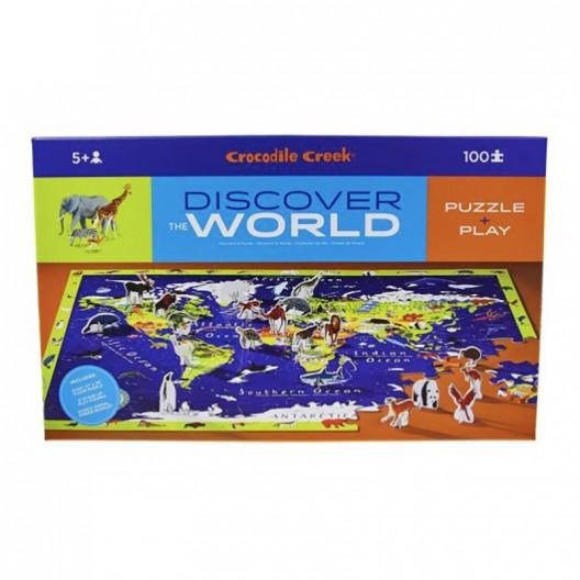 Puzzle y juguete Descubre el mundo - 100 pzas.
