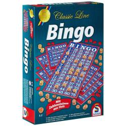 Bingo - con fichas numeradas de madera