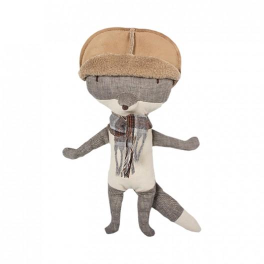 Lobo de peluche con sombrero