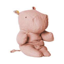Pequeño hipopótamo de peluche rosa - Amigos del safari