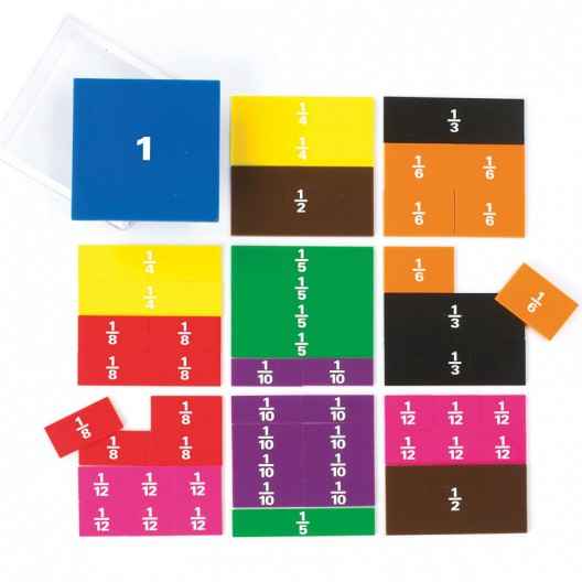 Cuadrados fraccionados, 51 piezas - últimas unidades