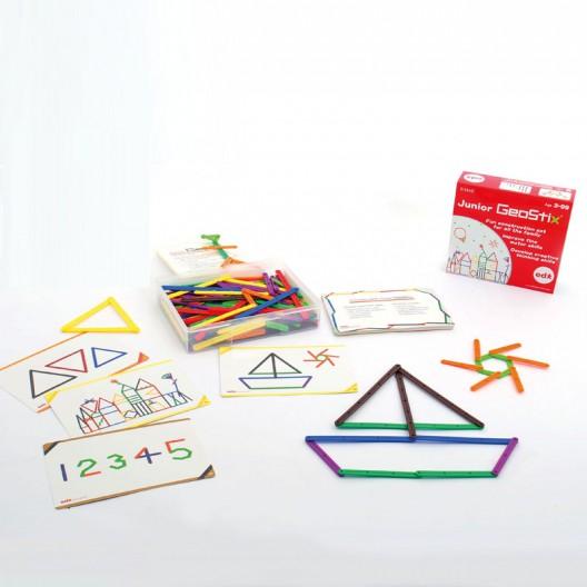 Geostix Junior - Juego de construcción con palitos para las matemáticas