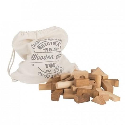 Bolsa 100 bloques de madera natural