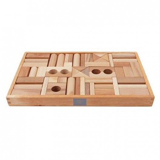 Caja 54 bloques de madera natural