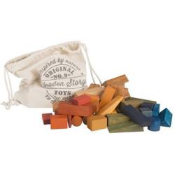Bolsa 50 bloques XL de madera Rainbow