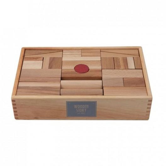 Caja 63 bloques XL de madera natural