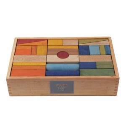 Caja 63 bloques XL de madera Rainbow