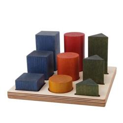 Tabla de clasificación con figuras geométricas XL de madera rainbow