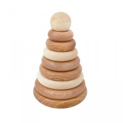 Ensartable - Torre de madera natural