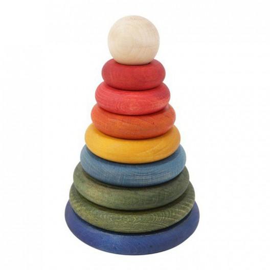 Ensartable - Torre de madera rainbow