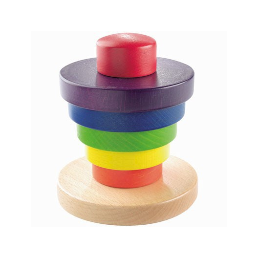 Torre del arco iris - jueguete de madera