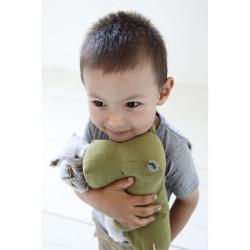 Pequeño rinoceronte de peluche gris - Amigos del safari
